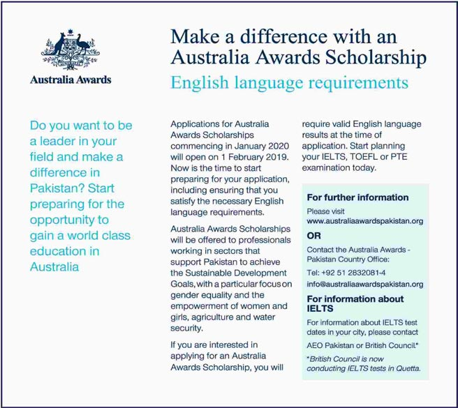 Australia Awards Scholarships Commencing in January 2020