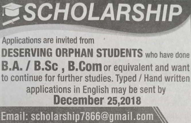 Scholarship for Deserving Orphan Students