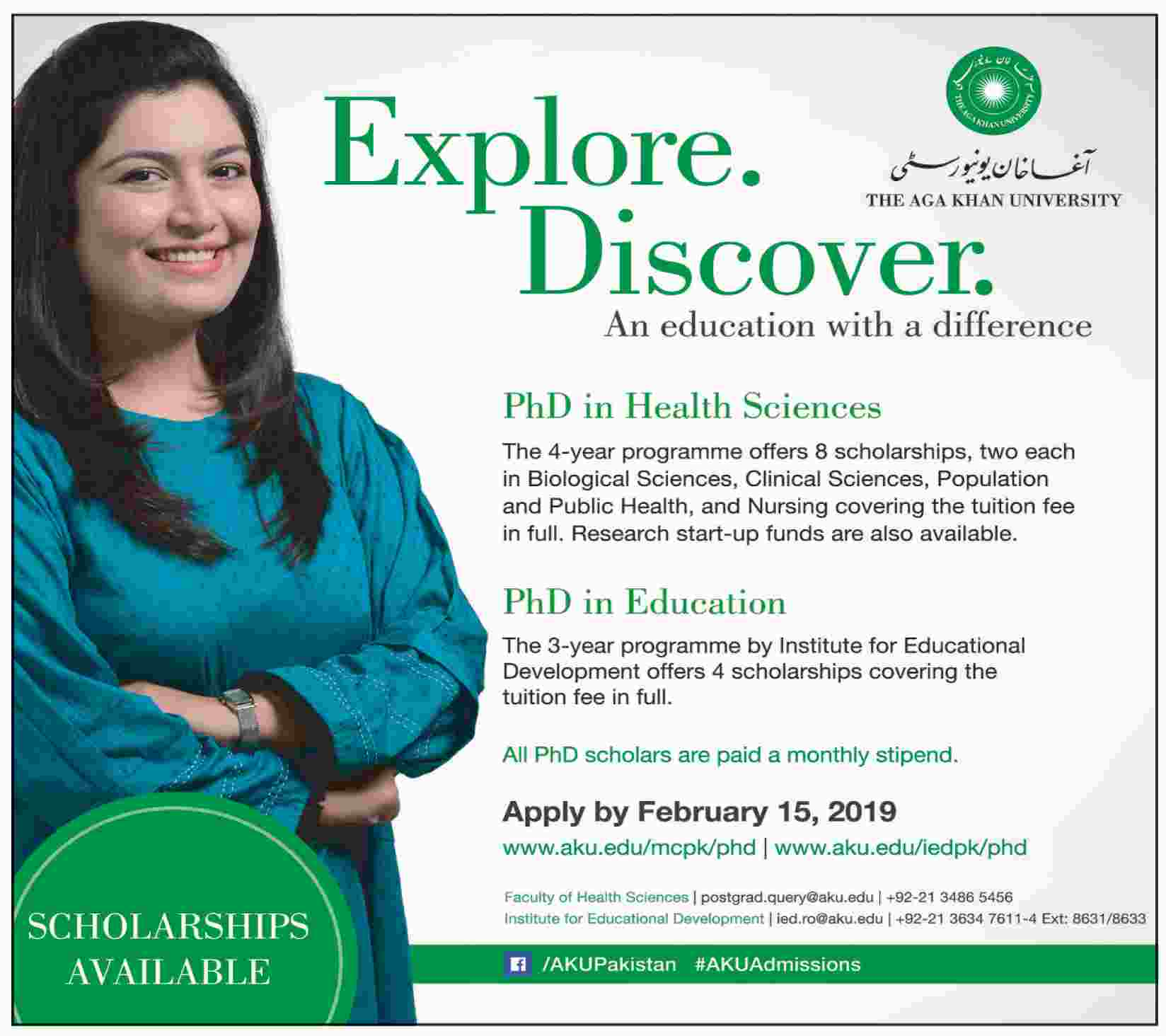 Scholarships for PhD in Health Sciences & Education - The Aga Khan University