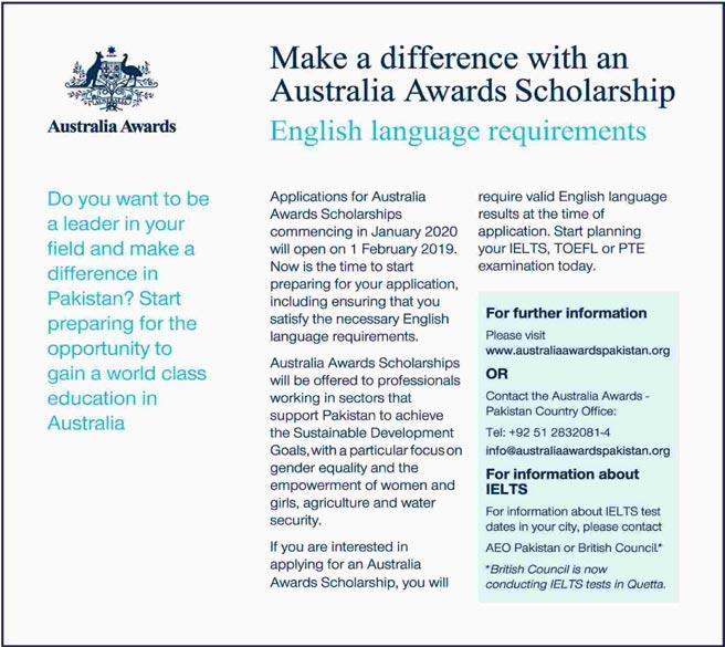 Australia Awards Scholarships Commencing in January 2020